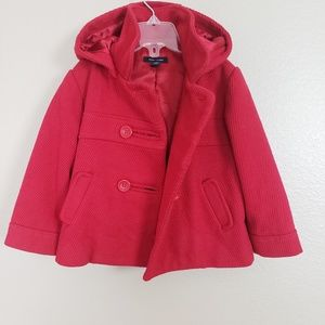 Tommy Hilfiger Red Corduroy Pea Coat